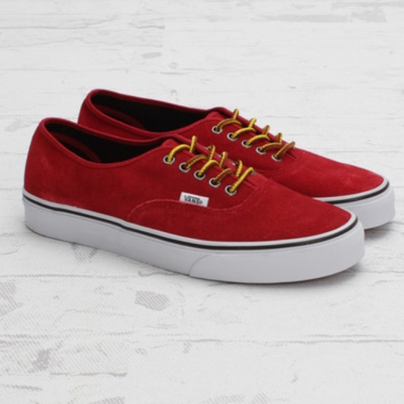 Vans Shoes | Vans Authentic Red Suede